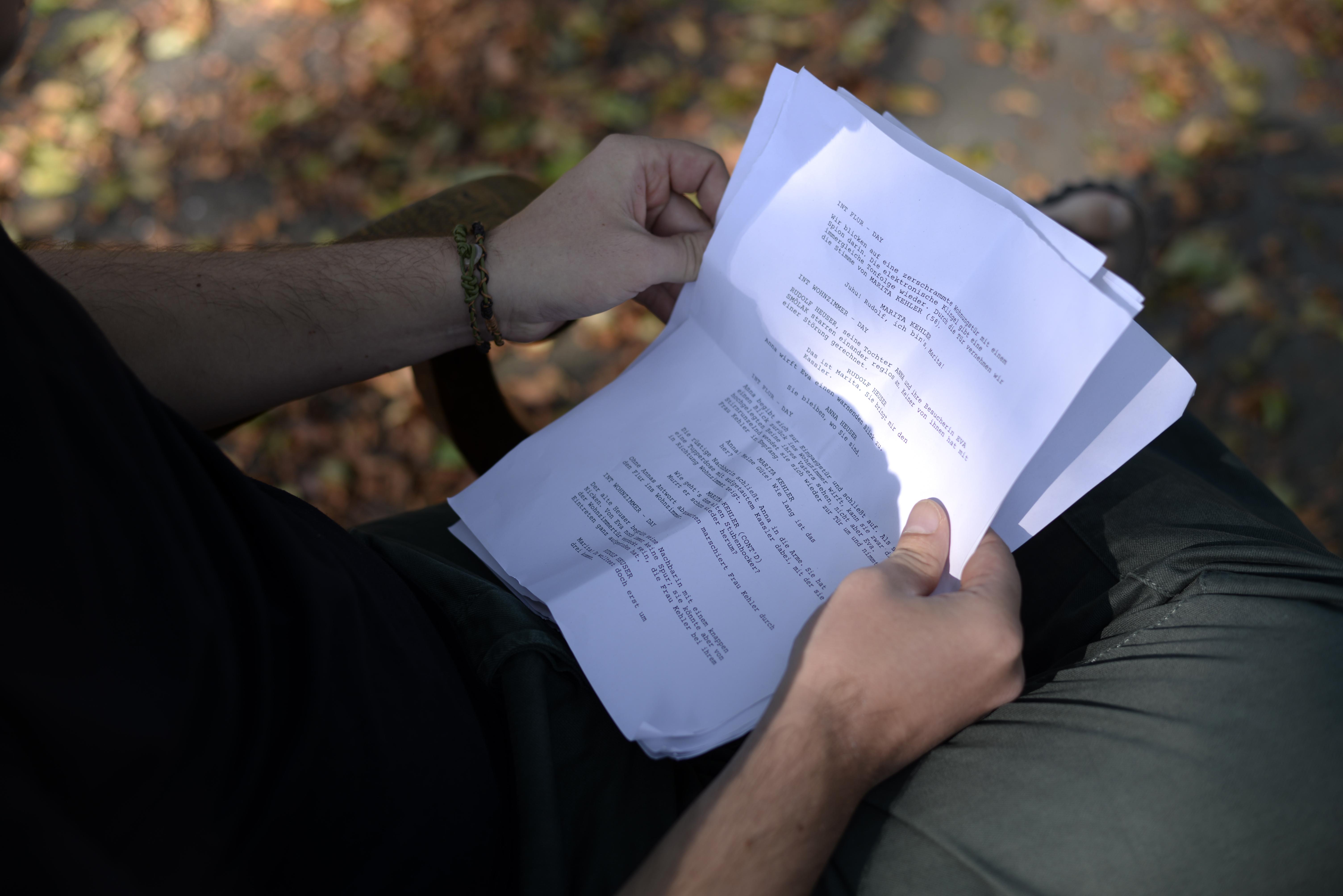 Ausschnitt aus dem Drehbuch